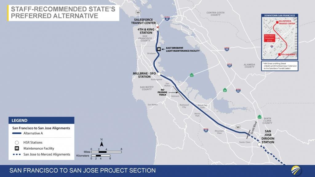 California High-Speed Rail Authority To Make Public Recommendations - California High Speed Rail Map
