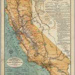 California Highway And Railroad Map   David Rumsey Historical Map   California Railroad Map