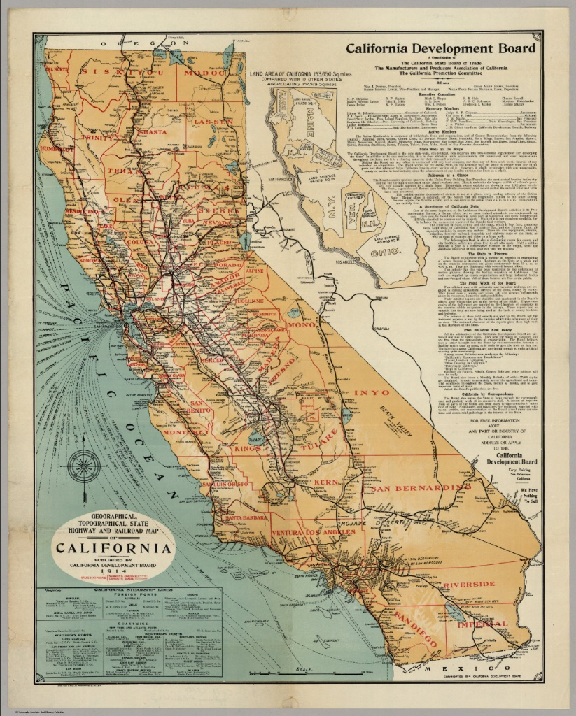 California Highway And Railroad Map - David Rumsey Historical Map - Historical Map Of California
