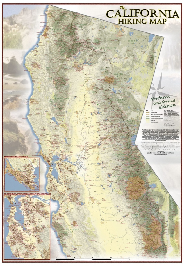 California Hiking Map - Backpacking Maps California