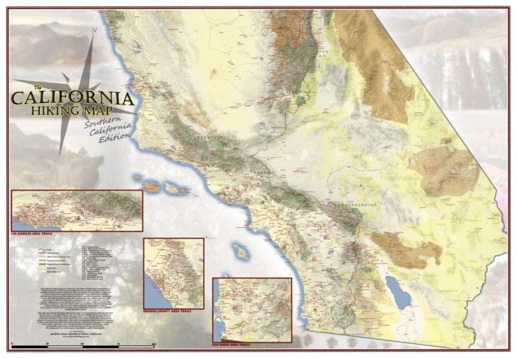 California Hiking Map
