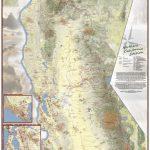 California Hiking Map   California Hiking Trails Map