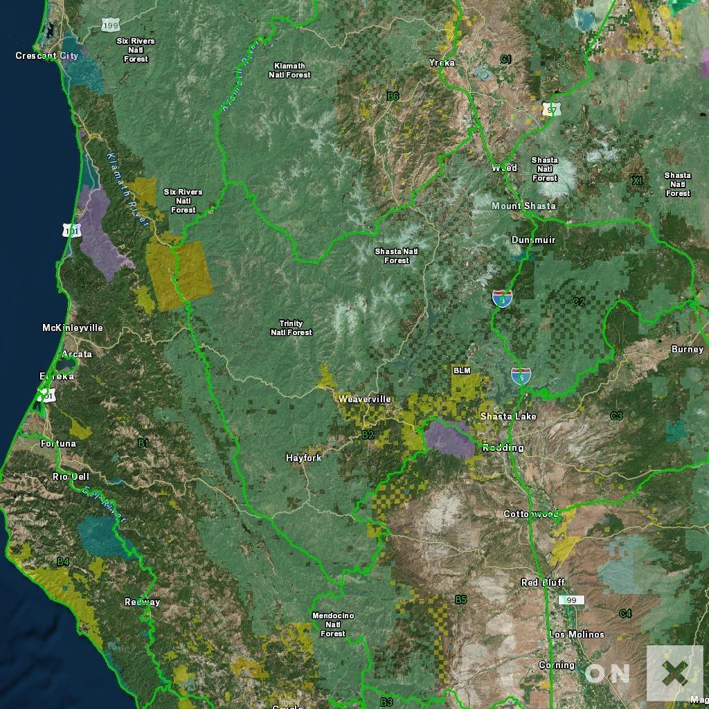 California Hunt Zone B2 Deer - B Zone California Map