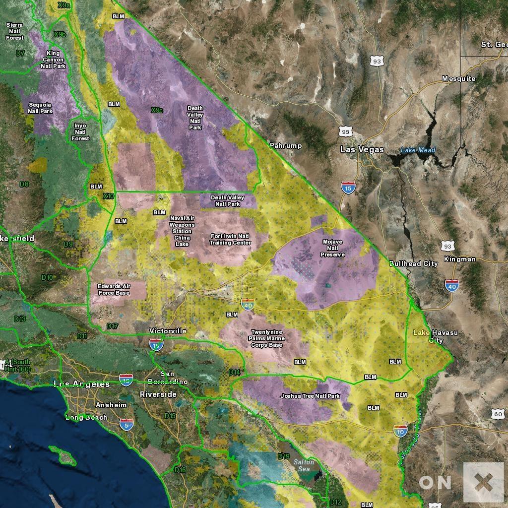 California Hunt Zone D17 Deer - California Deer Hunting Map