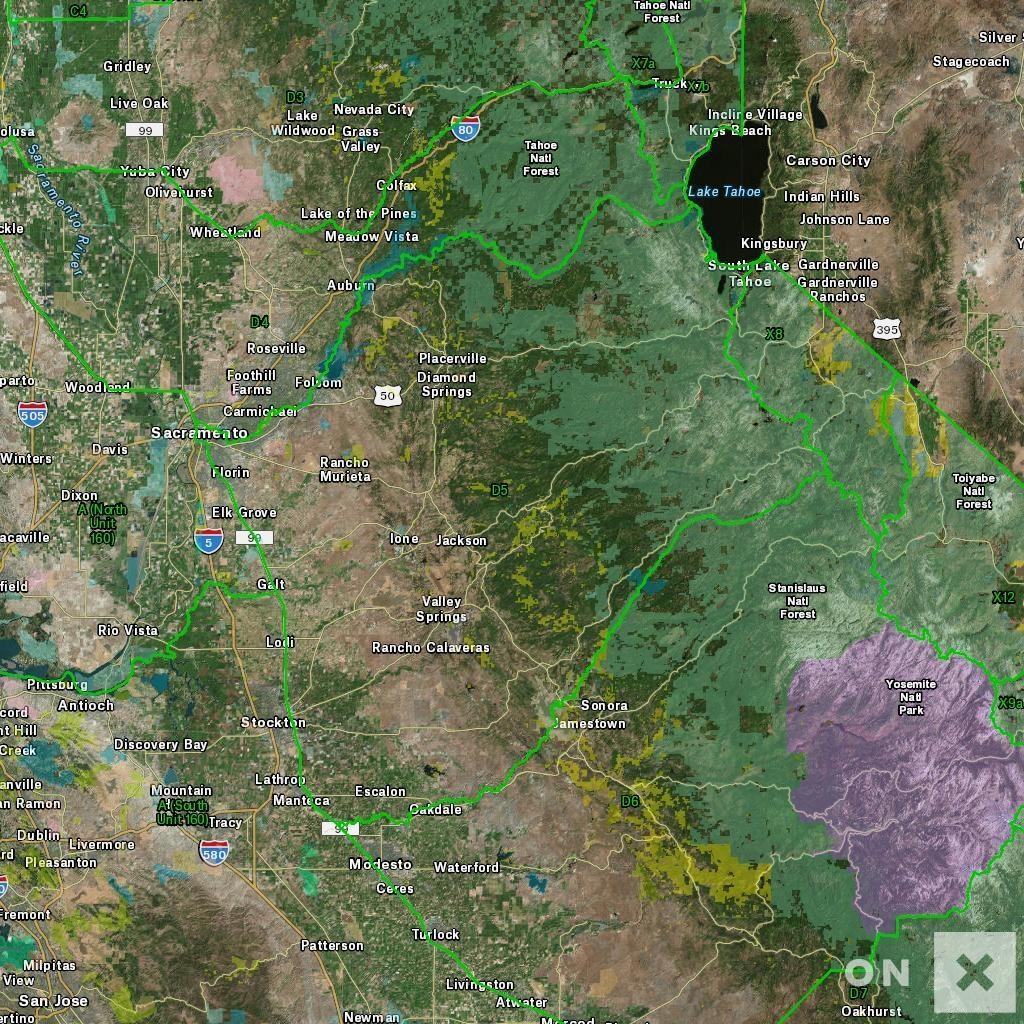 California Hunt Zone D5 Deer - California D5 Hunting Zone Map