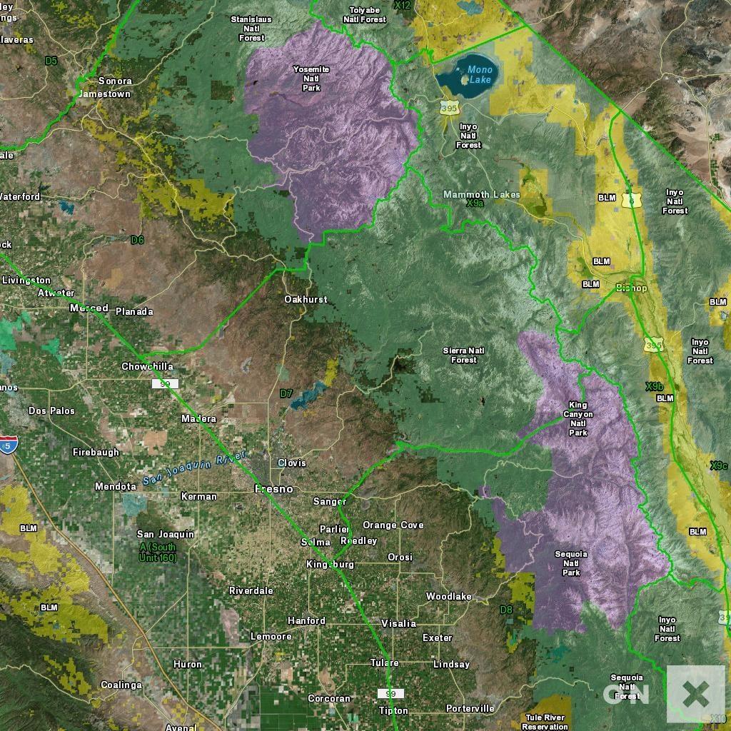 California Hunt Zone D7 Deer - California D5 Hunting Zone Map
