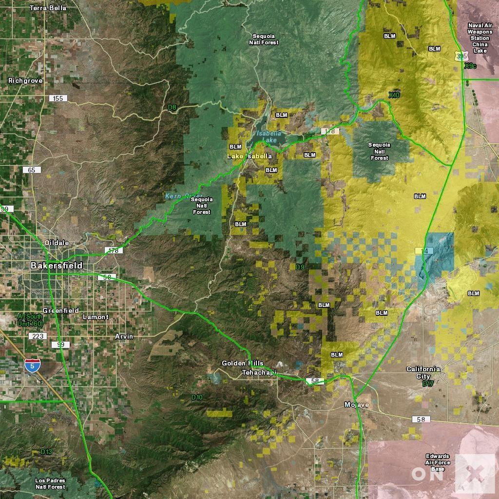 California Hunt Zone D9 Deer - Map Of Hunting Zones In California