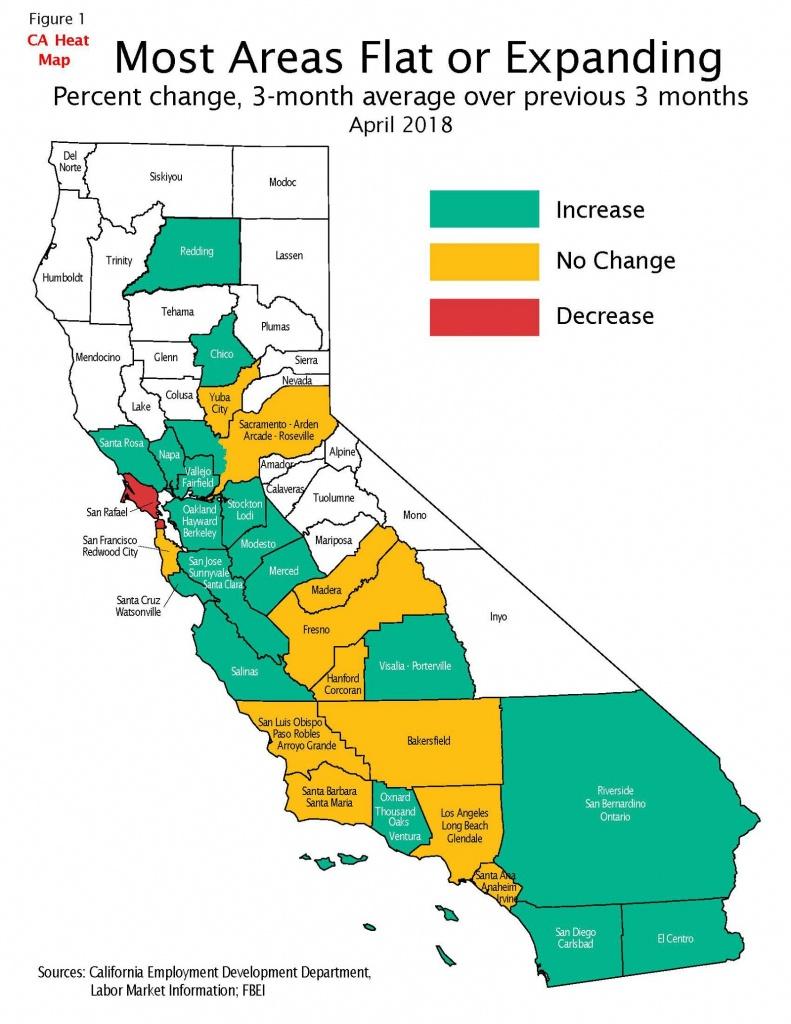 California Job Tracker-May – California State Treasurer's Office - California Heat Map