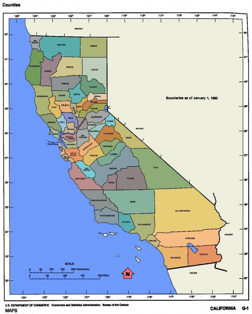 California Map And California Satellite Images - Where Is Garden Grove California On The Map
