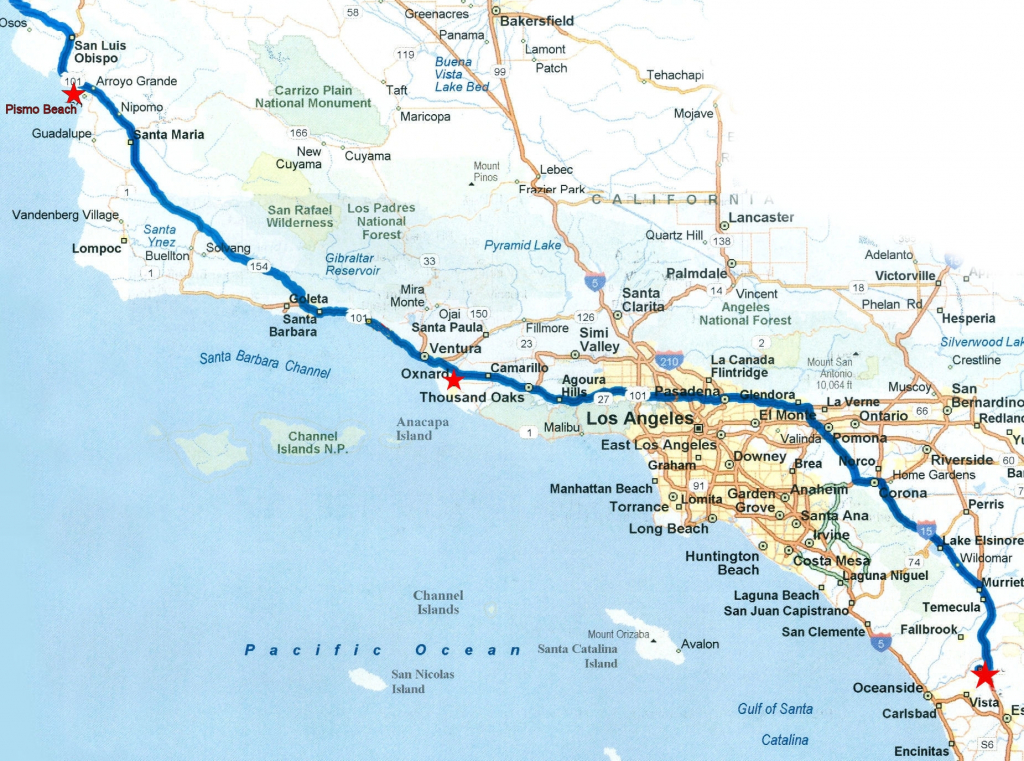 California Map For Road Trip – Map Of Usa District - California Coast Map Road Trip