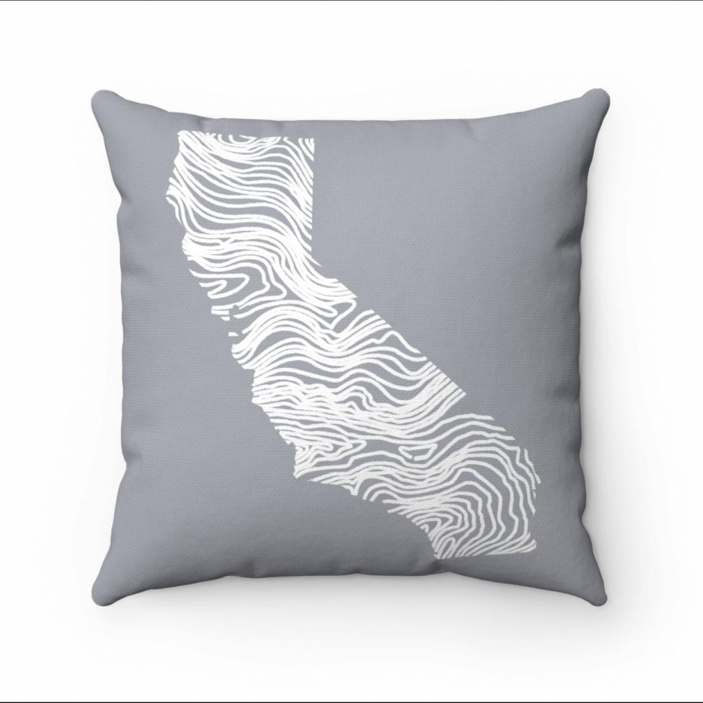 California Map Living Room Decor Map Pillow Throw Pillow   Etsy - California Map Pillow