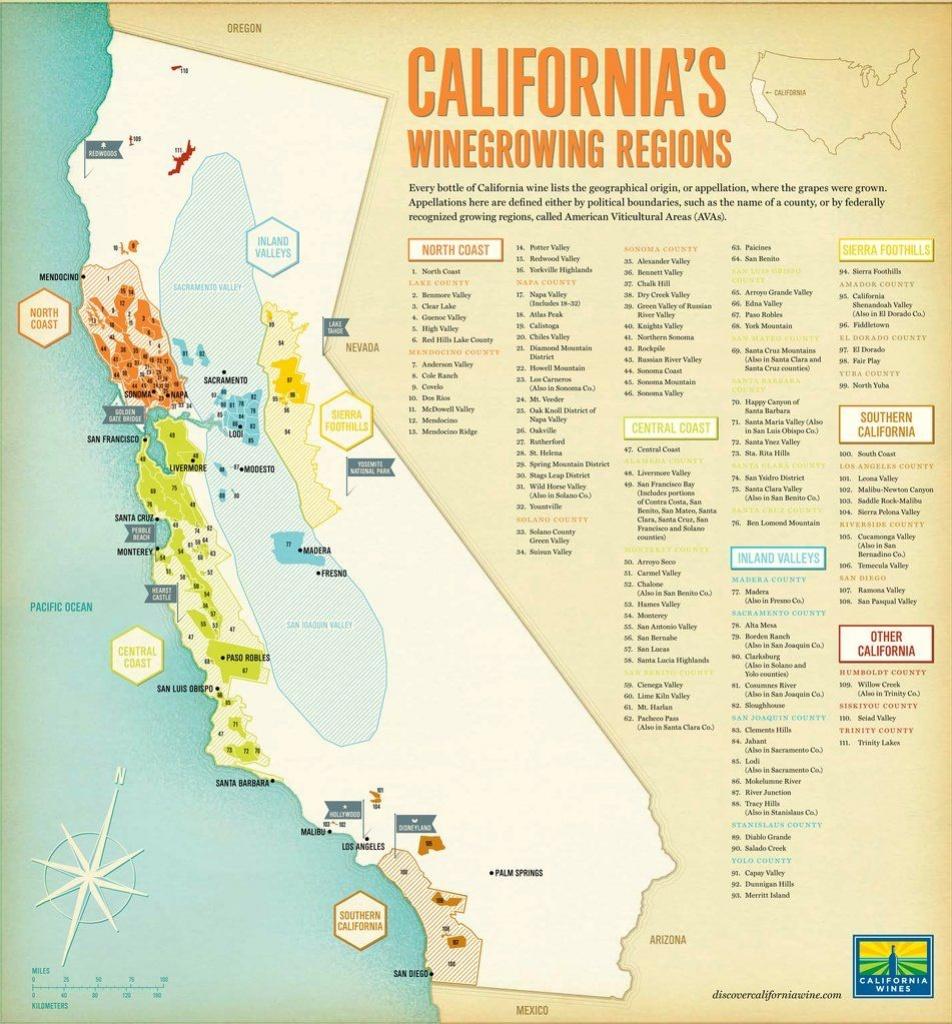 California Map Major Ava | Dimensions: 3500 X 3766 Add Gps | Wine In - California Ava Map