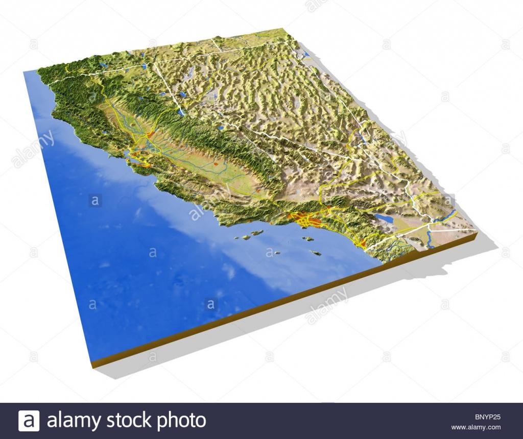 California Map Photos & California Map Images - Alamy - 3D Map Of California