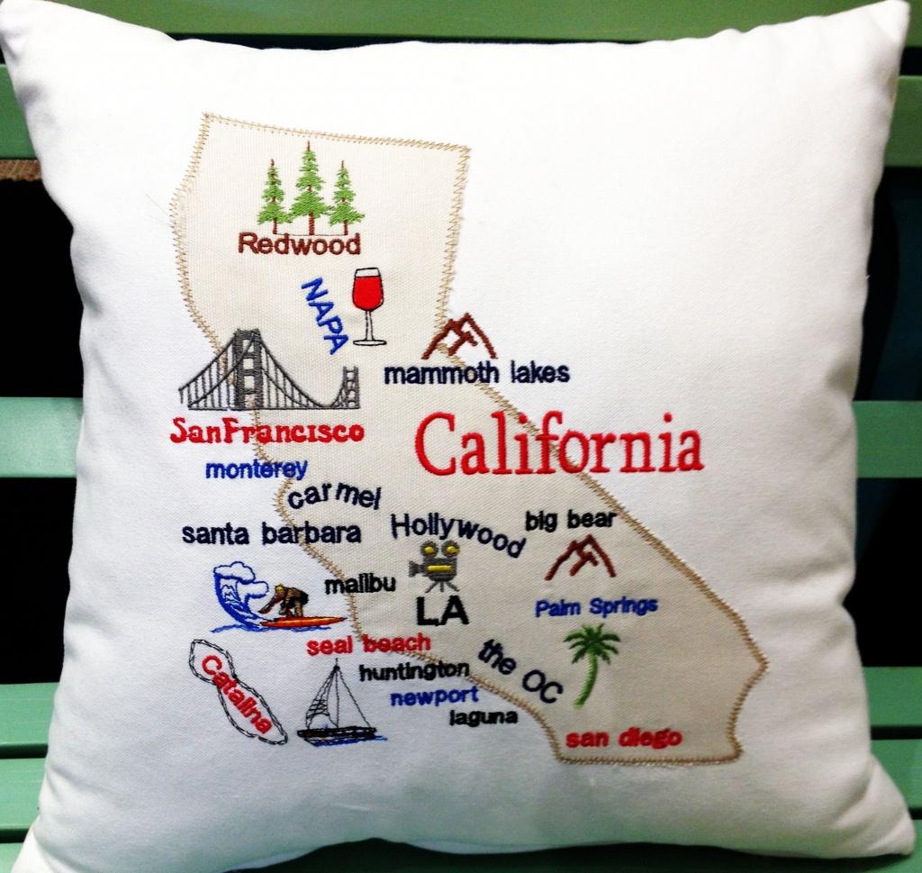 California Map Pillow California Gifts California Souvenir   Etsy - California Map Pillow