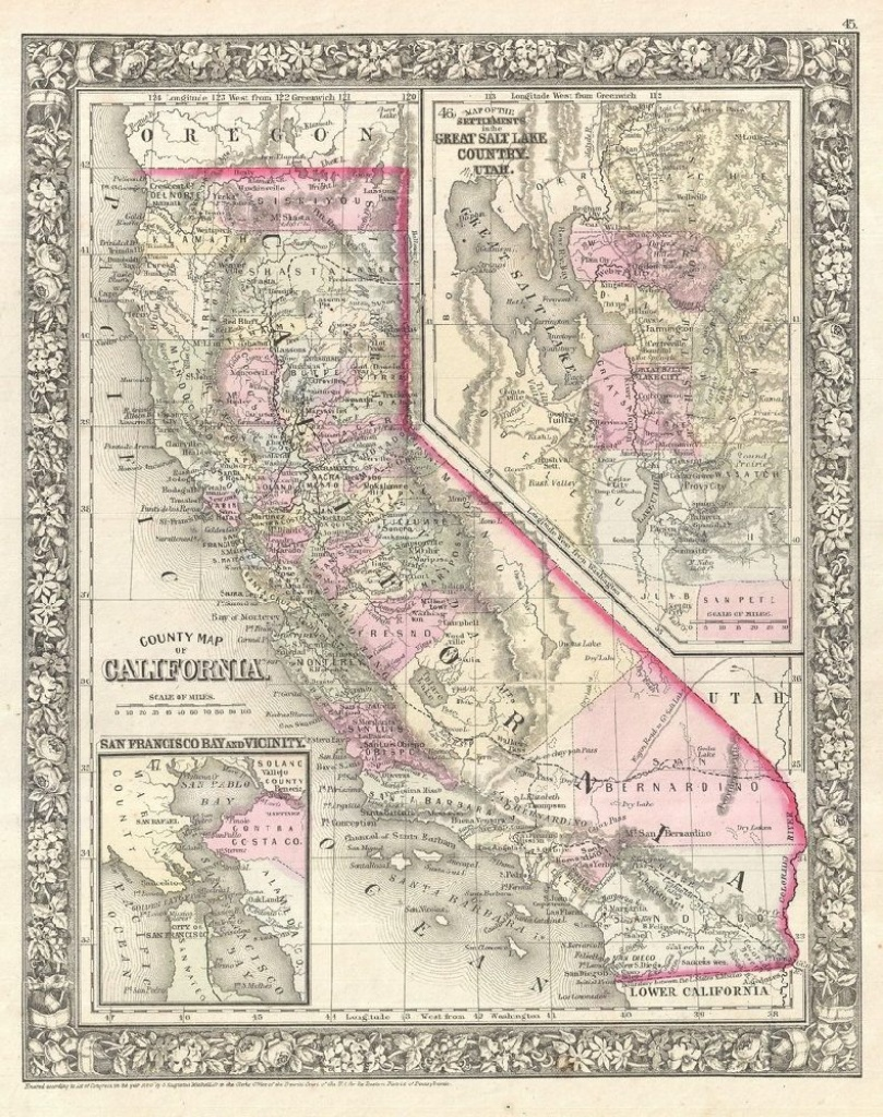 California Map Poster, Canvas, Print Sales - California Map Poster