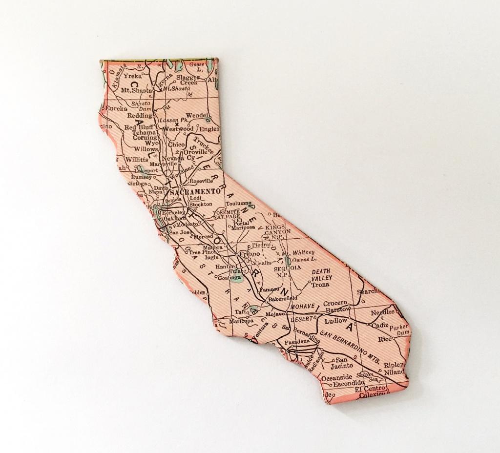 California Map Puzzle Piece | Etsy - California Map Puzzle