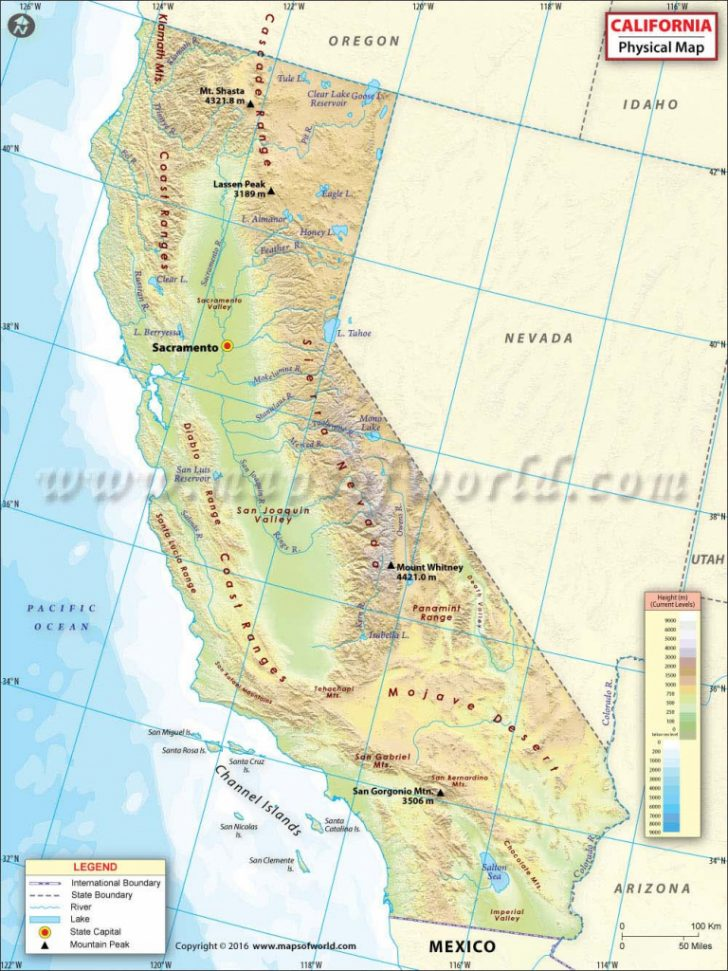 California Geography Map