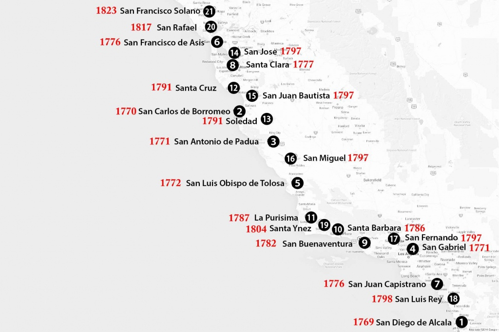 California Missions Map: Where To Find Them - California Missions Map