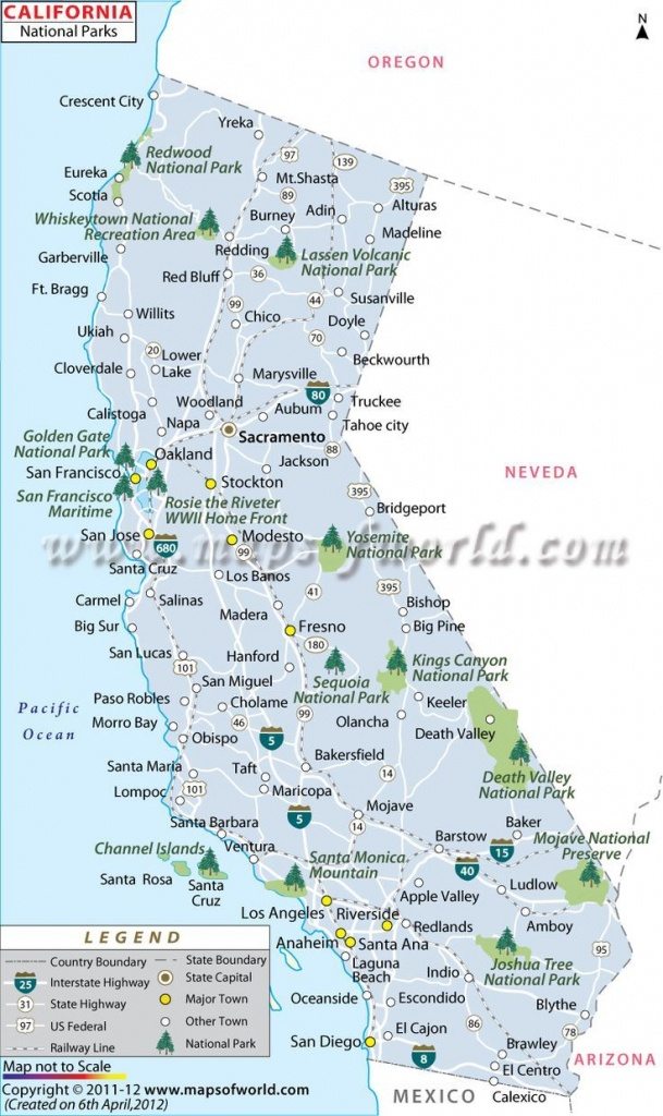 California National Parks Map | Travel In 2019 | California National - California State Campgrounds Map