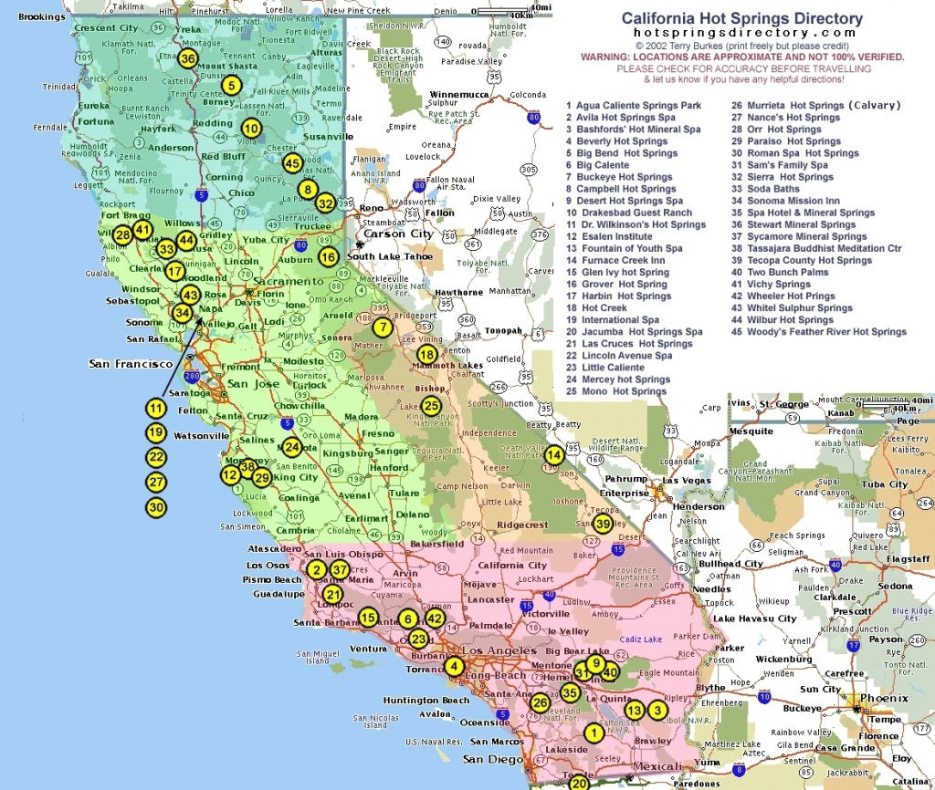 California Natural Hot Springs Map   California Map 2018 Throughout - Natural Hot Springs California Map