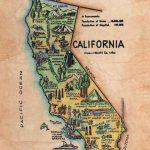 California Old California Map Kid's Retro Map | Etsy   Old California Map