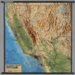 California -- Physical (Raised Relief) - David Rumsey Historical Map - California Relief Map Printable