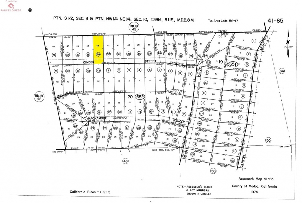 California Pines Lot In Modoc, Ca : Land For Saleowner : Alturas - California Pines Parcel Map