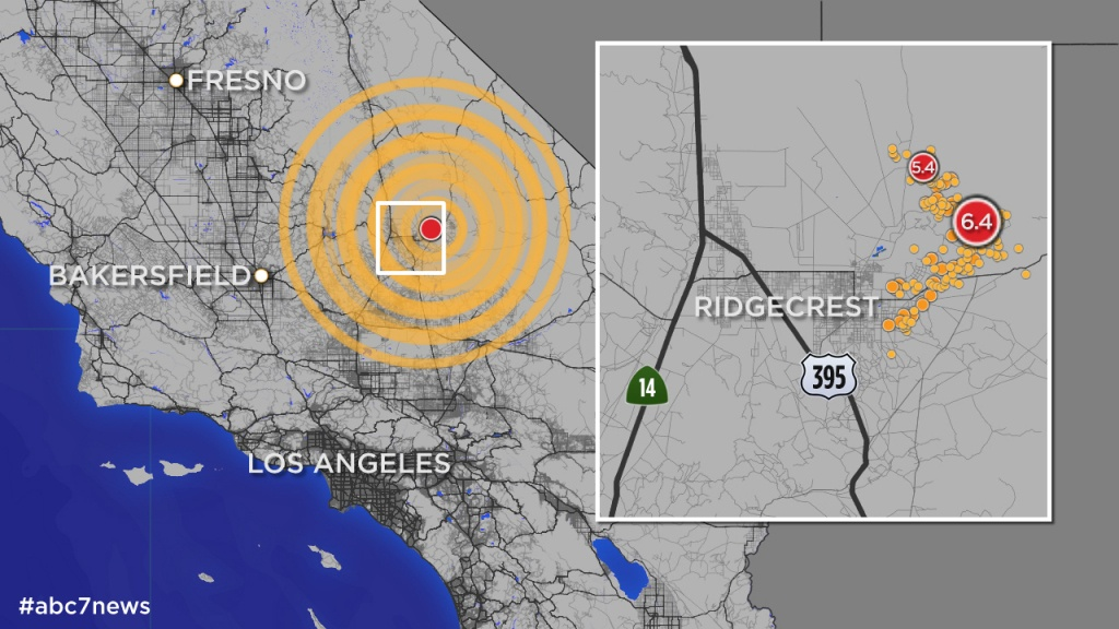 California Quake: Map Shows More Than 245 Aftershocks Since 6.4 - Bears In California Map