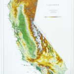 California Raised Relief Map   The Map Shop   California Raised Relief Map