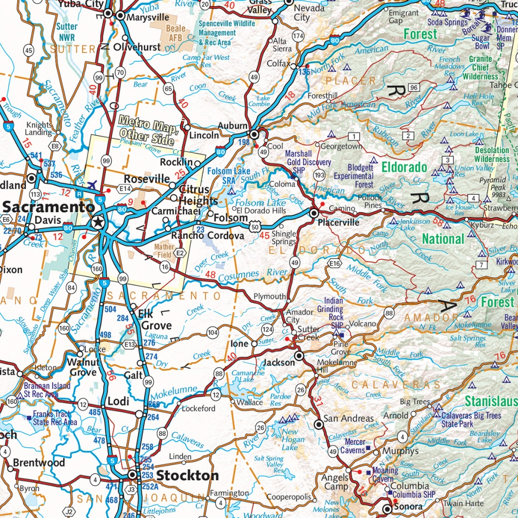 California Road Map — Benchmark Maps - Road Map Of California And Nevada
