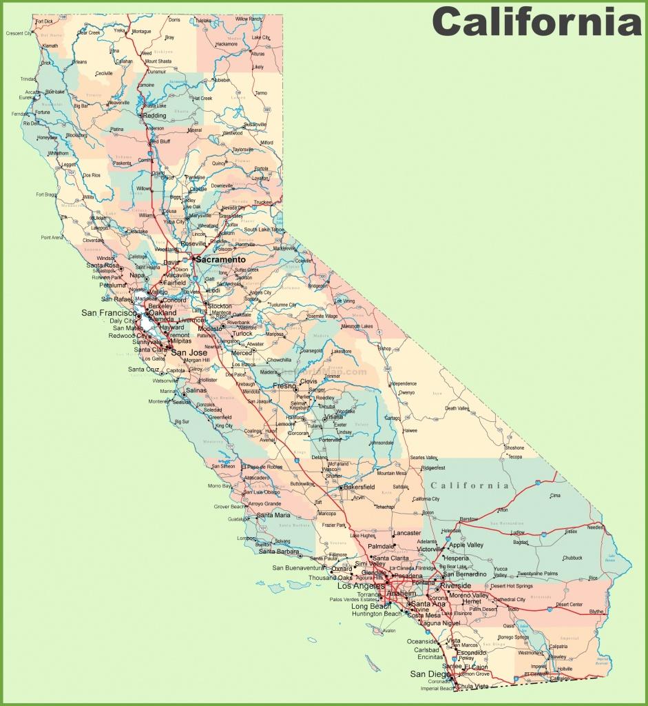 California Road Map - California Road Atlas Map