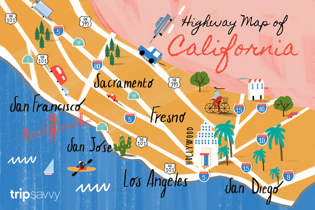 California Road Map - Highways And Major Routes - California Delta Map