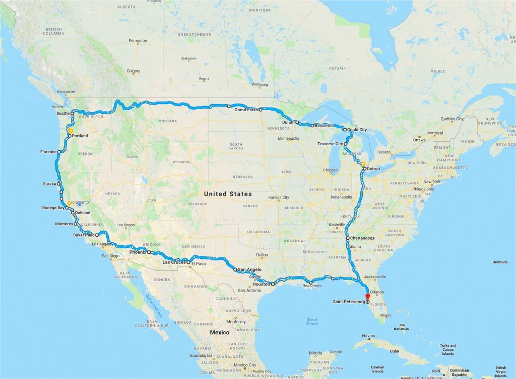 California Road Trip Trip Planner Map | Secretmuseum - Road Trip Map Printable
