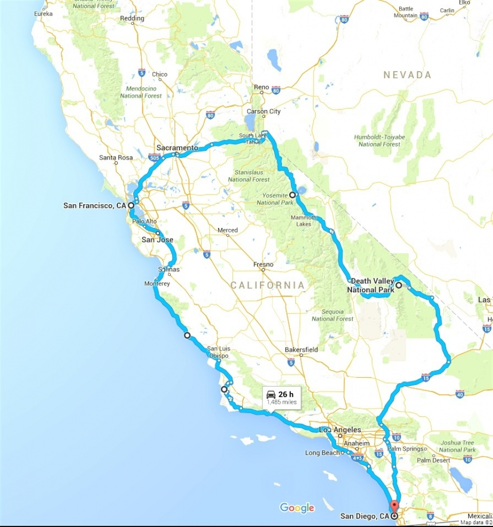 California Rv Road Trip Planner Roverpass Amazing Map Usa To Route - California Trip Planner Map