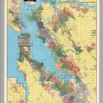 California: San Francisco Bay Cities    Political.   David Rumsey   Northern California Wall Map