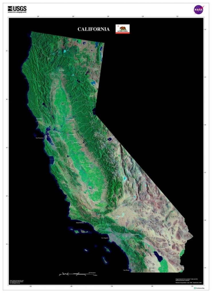California Satellite Poster Map | Cartography | California Map - Satellite Map Of California