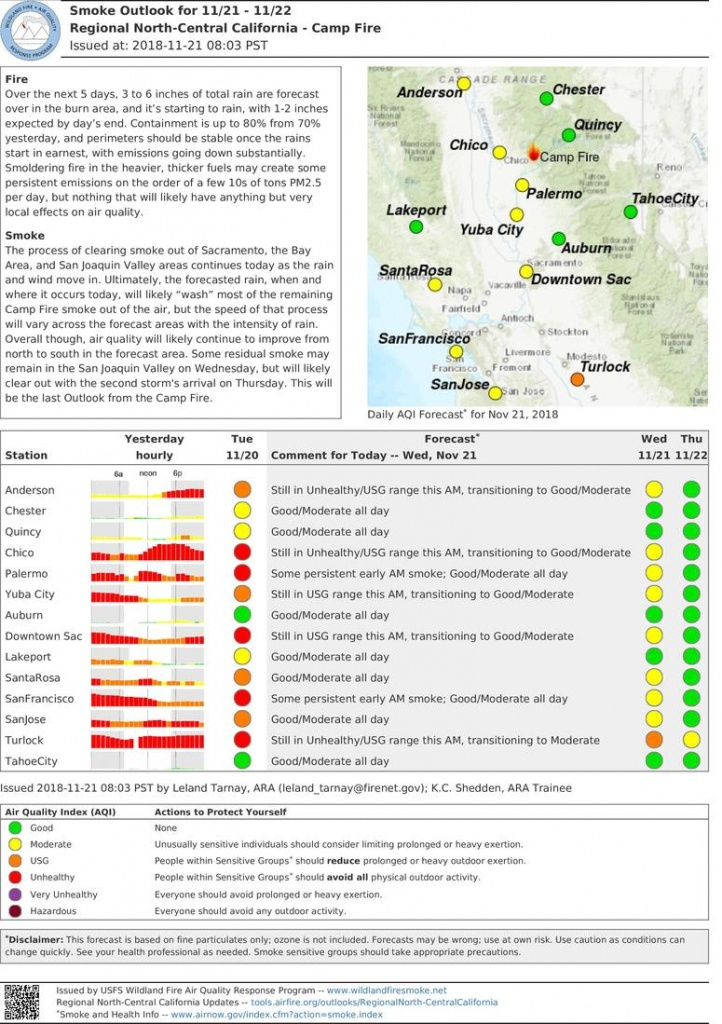 California Smoke Information - California Air Quality Index Map