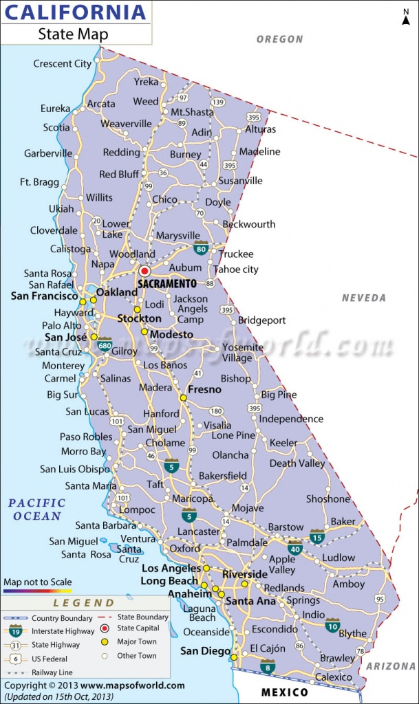 California State Map - California Map With States