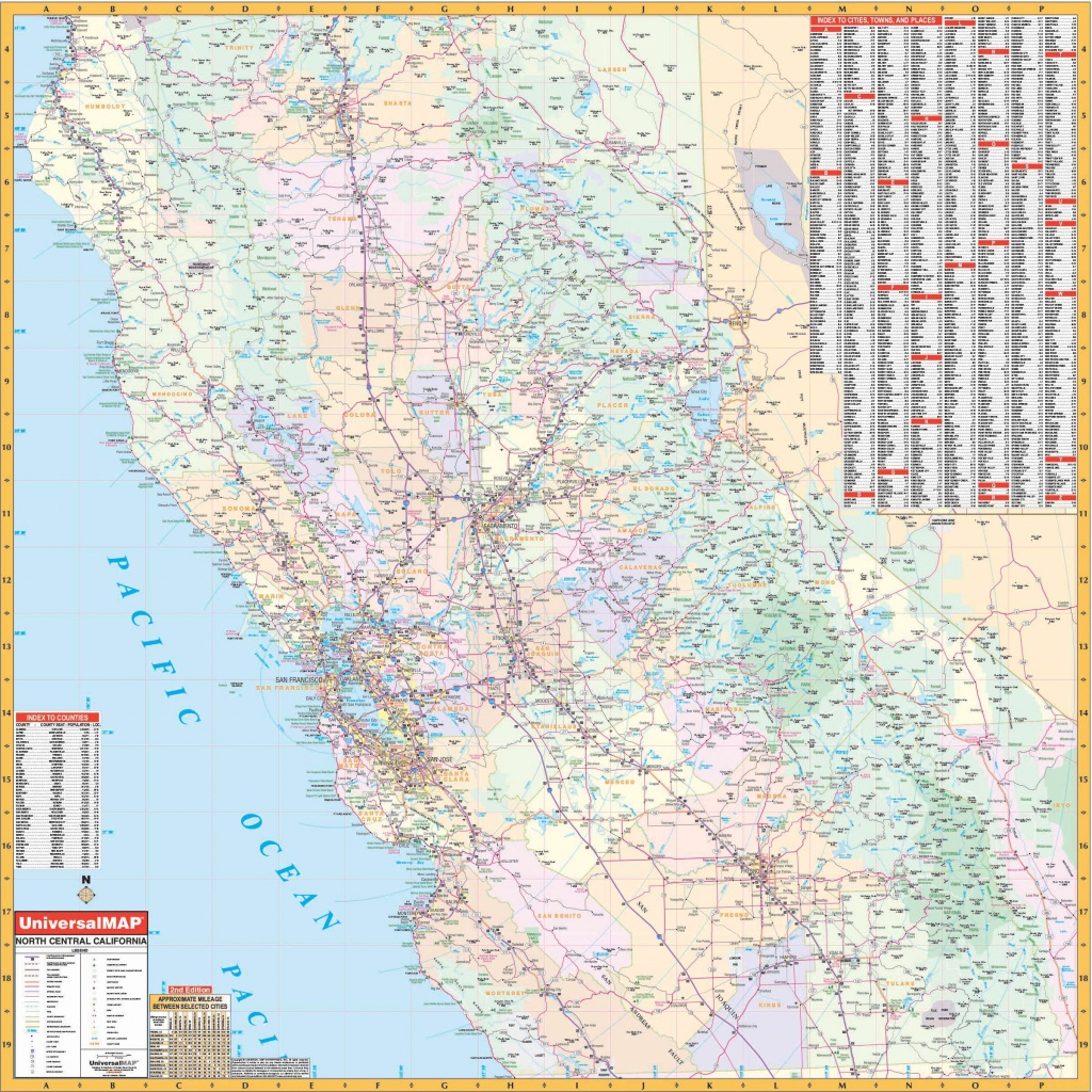 California State North Central Wall Map – Kappa Map Group - Northern California Wall Map