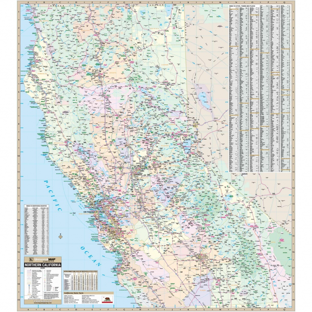 California State North Wall Map - The Map Shop - California Wall Map