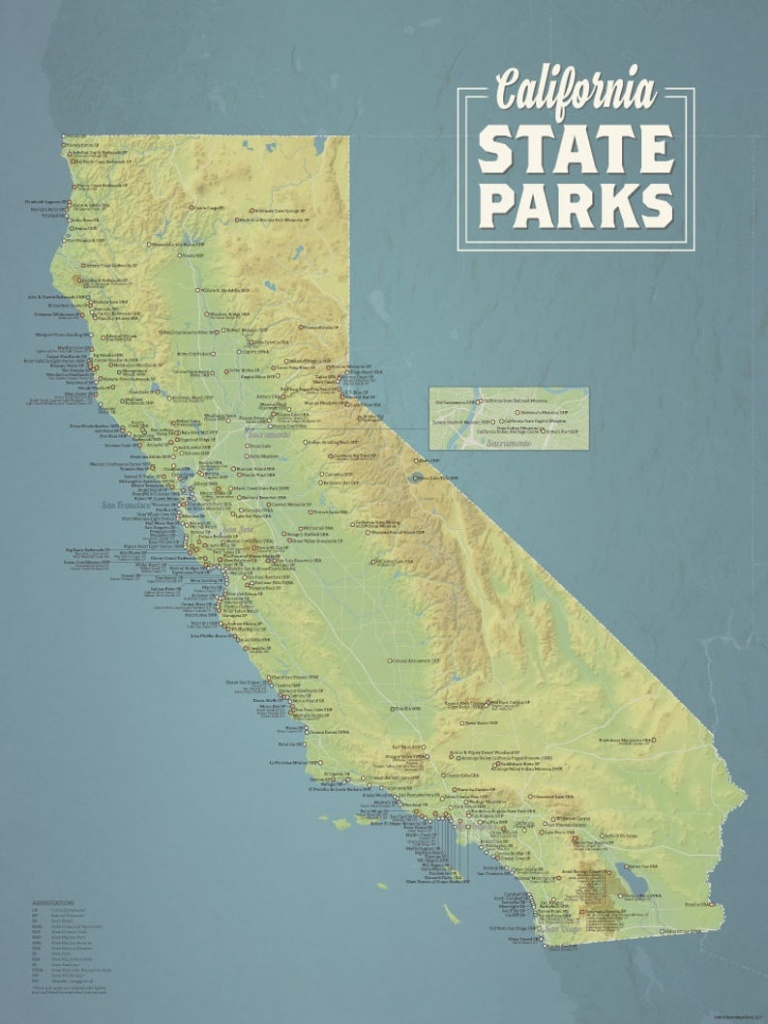 California State Parks Map 18X24 Poster | Etsy - California State Parks Map