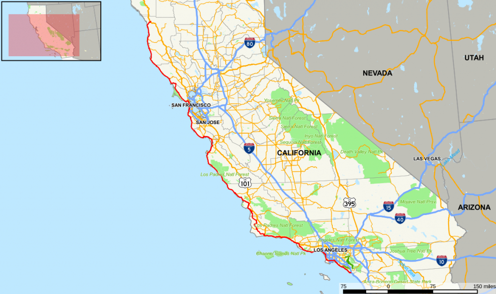 California State Route 1 — Wikipédia - Scenic Byways California Map