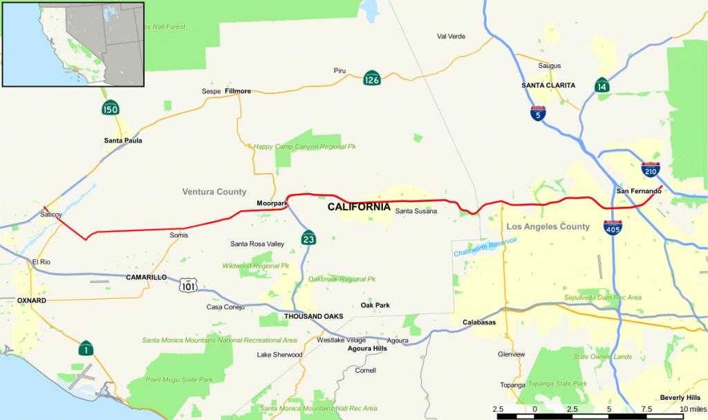 California State Route 118 - Wikipedia - Van Nuys California Map