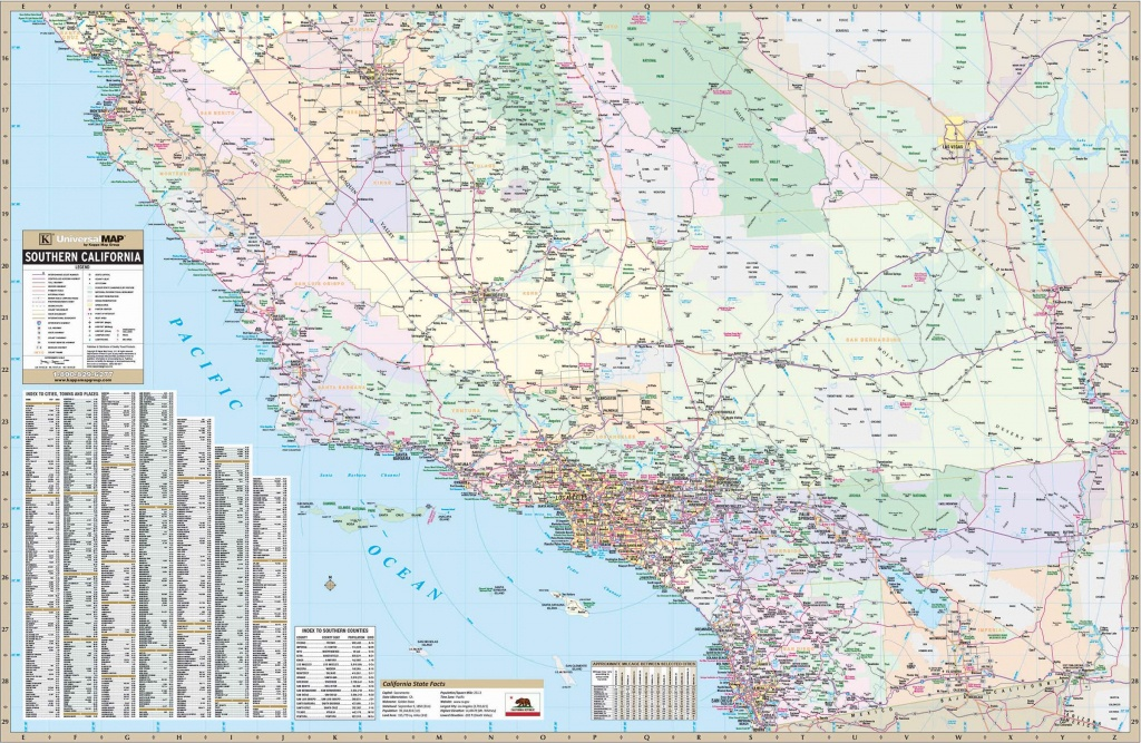 California State Southern Wall Map – Kappa Map Group - Laminated California Wall Map