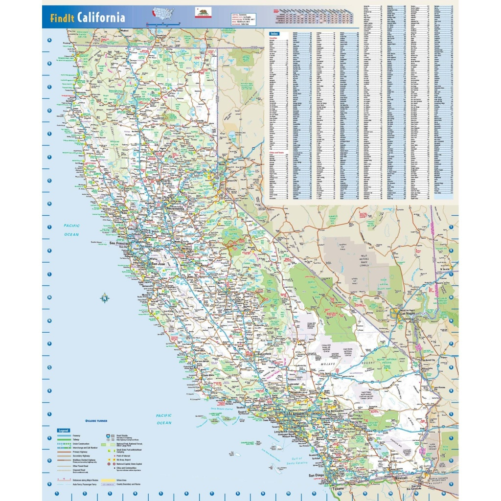 California State Wall Map - The Map Shop - California State Map Pictures