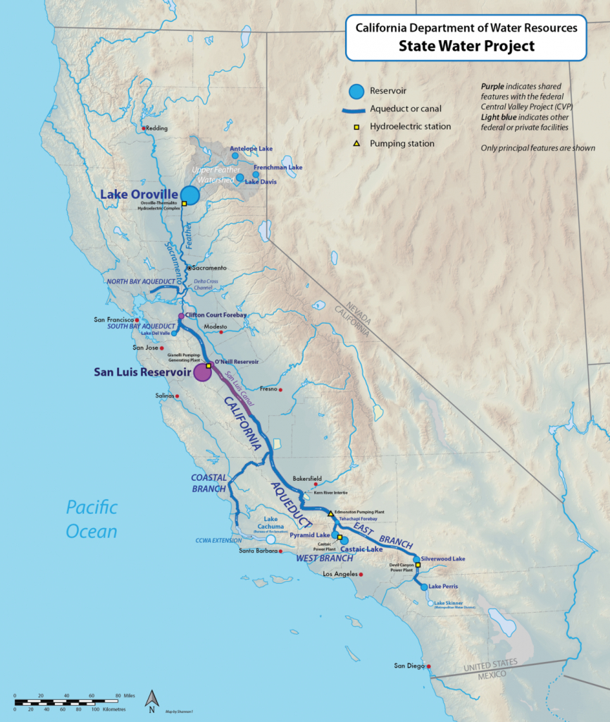 California State Water Project - Wikipedia - California Aqueduct Fishing Map