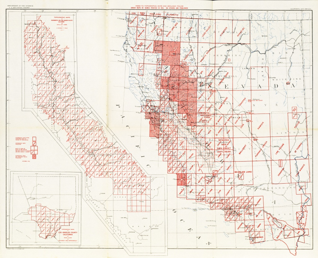 California Topographic Maps - Perry-Castañeda Map Collection - Ut - California Topographic Map Elevations