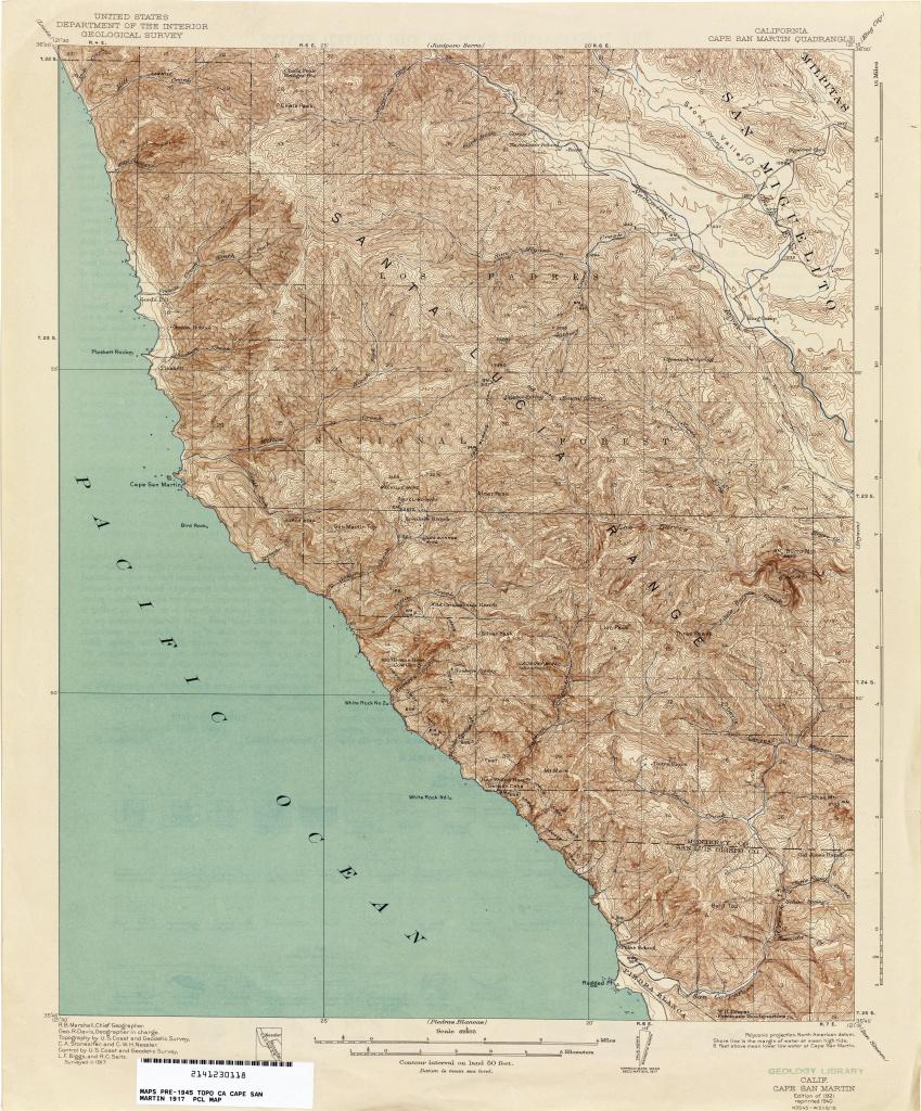 California Topographic Maps - Perry-Castañeda Map Collection - Ut - California Topographic Map