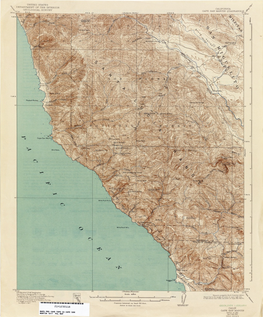 California Topographic Maps - Perry-Castañeda Map Collection - Ut - San Martin California Map