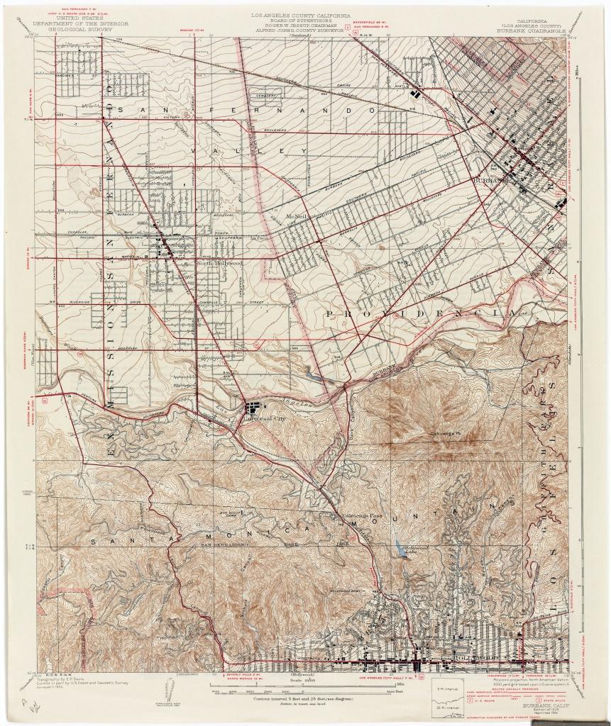 California Topographic Maps - Perry-Castañeda Map Collection - Ut - Van Nuys California Map